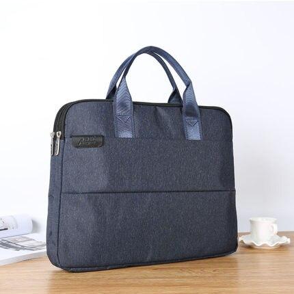 Fashion Business Mens Document Bag A4 Zipper Bag 14 Inch Laptop Bag File Organizer For Document (Custom LOGO For 50pcs More)