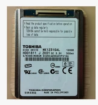 NEW 1.8/'/' 120GB MK1234GAL CE ZIF Hard Drive For IPOD CLASSIC Replace MK1634GAL