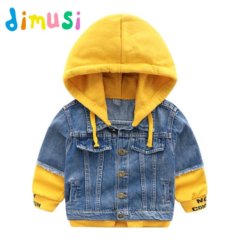 78c39639199 DETALLES ACERCA DE Denim Chaquetas niños primavera otoño Trench de la ropa  de los niños prendas de vestir exteriores con capucha chaqueta de bebé niños  ...