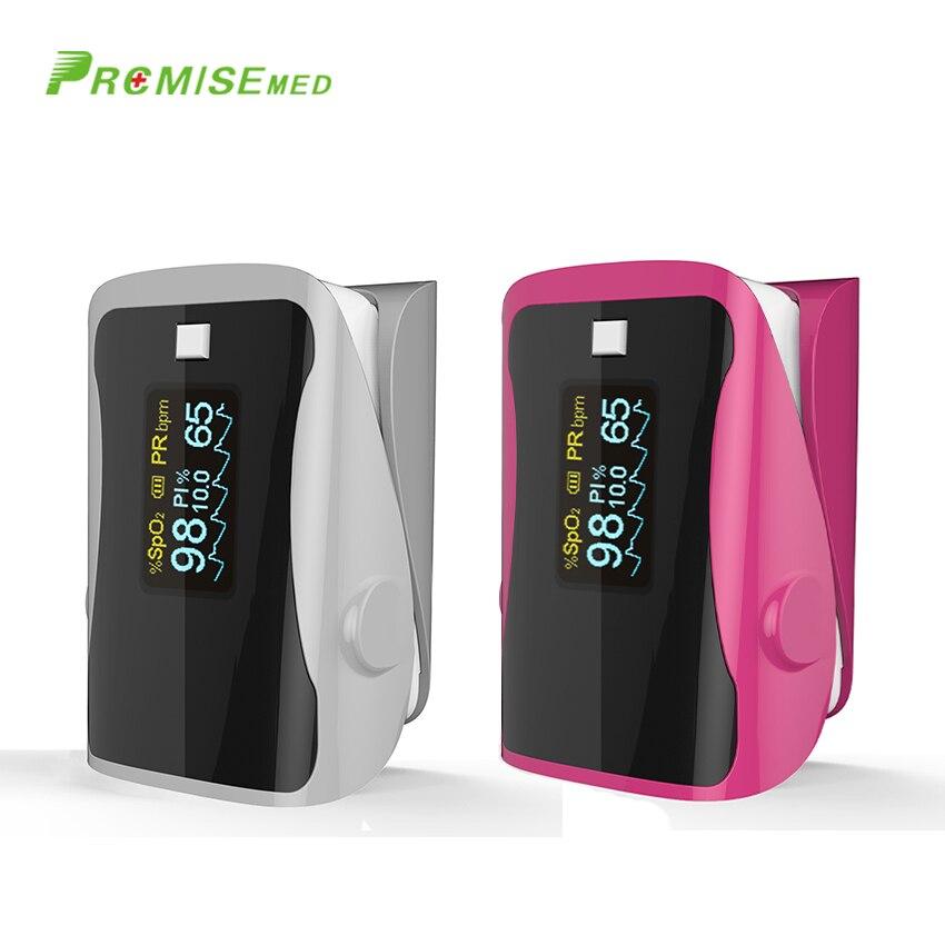 PRCMISEMED Household Health Monitors Pulse Oximeters Finger Oxygen Fingertip Pulse Oximeter SPO2 Finger Oximetro gray rosered in Blood Pressure from Beauty Health