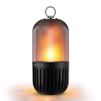 Bluetooth Outdoor Atmosphere Table Lamp Speaker Flame Waterproof Led Wireless USB Portable