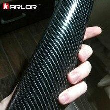 Película de fibra de carbono 4D para coche, 50x200cm, pegatina 3M, impermeable, bricolaje, estilismo para Interior y Exterior