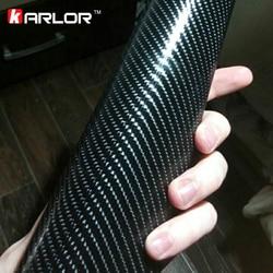 Film autocollant imperméable en Fiber de carbone 4D 3M, 50x200cm, pour bricolage, style de voiture, accessoires intérieurs et extérieurs