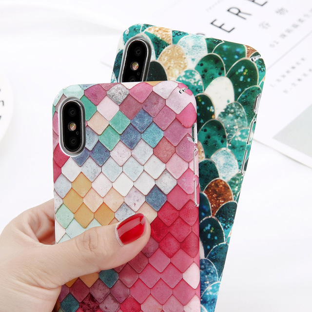USLION Camellia Flower Leaf Marble Phone Case For iPhone X Cherry Rose Floral Case For iPhone 7 8 6 6S Plus Hard PC Cover Coque 2
