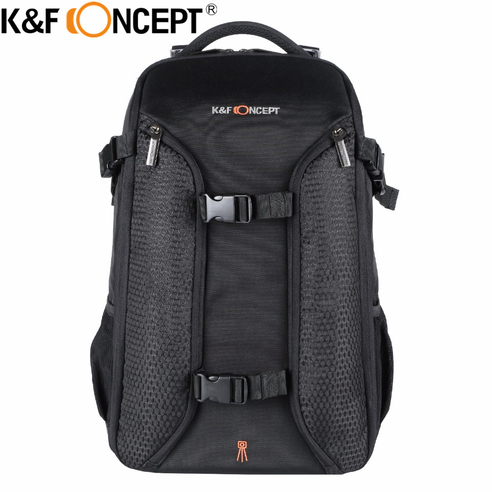 K F CONCEPT Professional Travel Camera Backpack Large Capacity For 2 Cameras Multiple Lens With Tripod