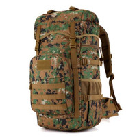 50 l high quality nylon camouflage Backpack 2016 military Waterproof fashion leisure tourism bag 17 inch flat panel School wear