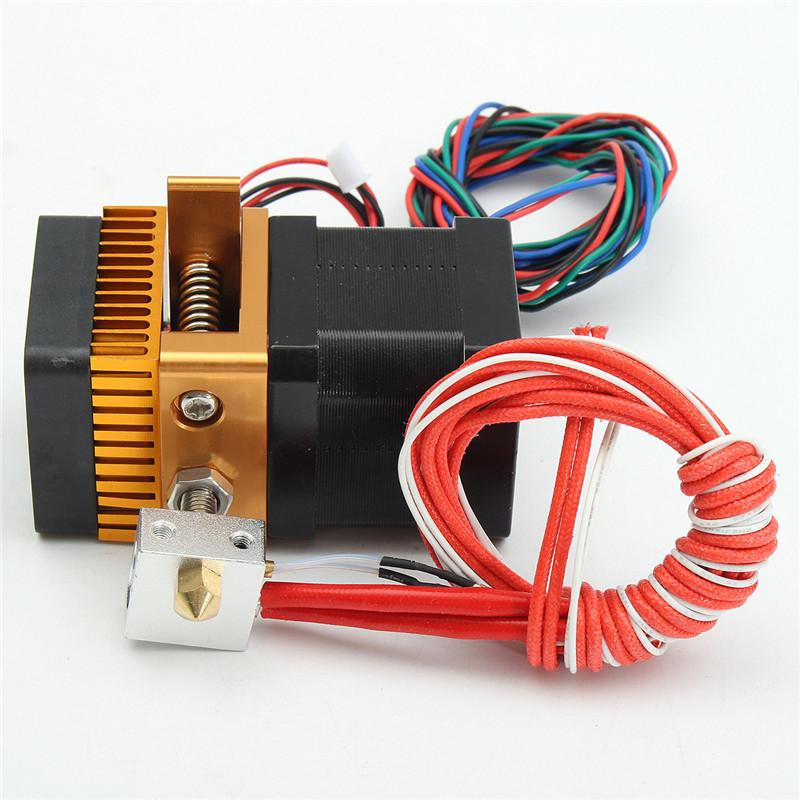 Prix pour NOUVEAU 3D Imprimante Mk8 Extrudeuse J-tête Hotend Buse 0.4mm L'entrée d'alimentation Diamètre 1.75 Filament Extra Buse pour Makerbot Prusa i3