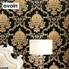 High Grade Black Gold Luxury Embossed Texture Metallic Damask Wallpaper For Wall Roll Waterproof Washable Vinyl