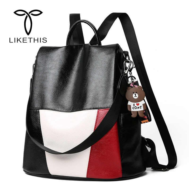 Women Backpack New Fashion PU Leather Large Capacity Girls Travel Bag  School Bag Waterproof Shoulder Bag a0c141a9cd524
