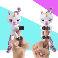 2017 In Stock 6 Color Finger Unicorn Toys Interactive Monkey Smart Colorful Fingers Smart Induction Toys