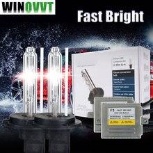 Ксенон H7 комплект 0,1 секунд Быстрый Яркий F3 балласты быстрая яркие лампы hid комплект H1 H3 H8 H4 H11 4300 k 6000 k 8000 k
