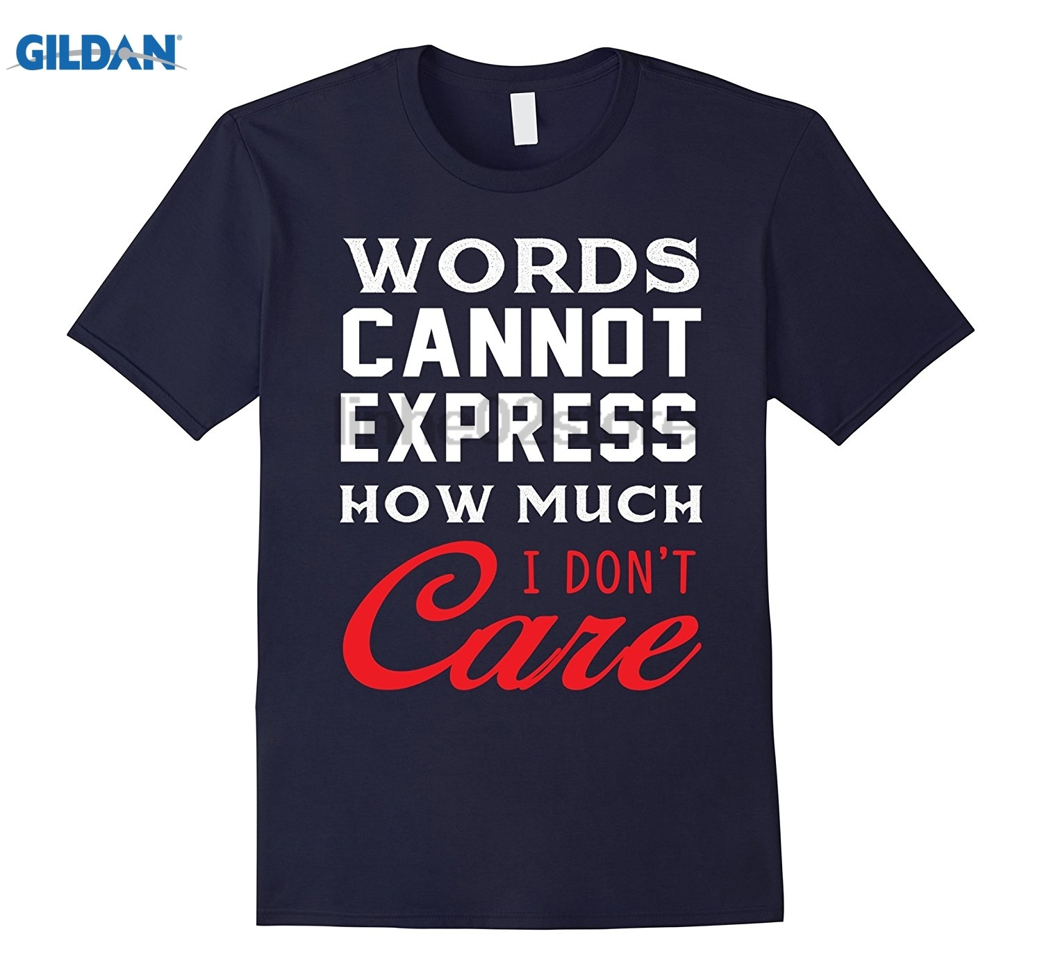 GILDAN Words Cannot Express How Much I Dont Care T-Shirt Womens T-shirt