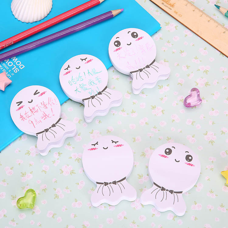 Cute Kawaii Doll Memo Pad Post It Note Creative Expression Sticky Paper For Kids Cute Stationery School Suppliers Free Shipping
