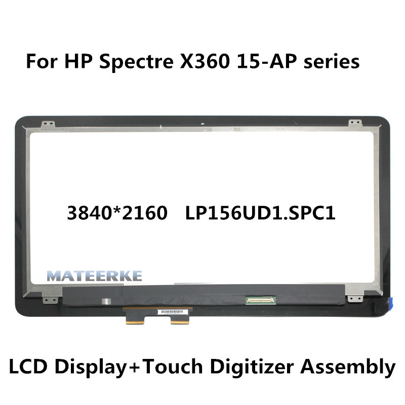 3840*2160 LP156UD1.SPC1 UHD LCD Touch Screen Assembly with Digitizer For HP Spectre X360 15-ap 15-ap011dx 15-ap018ca 15-ap001nx