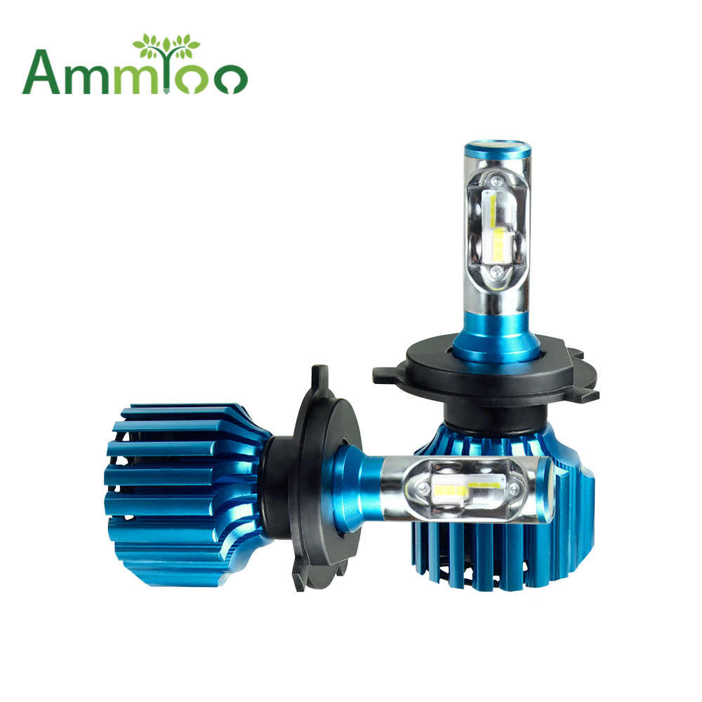 AmmToo H4 H7 LED Car Headlight 12V ZES H11 9005 9006 Fog Light 72W 12000lm Auto Bulb Headlamp 6500K Light High Low Beam car Bulb