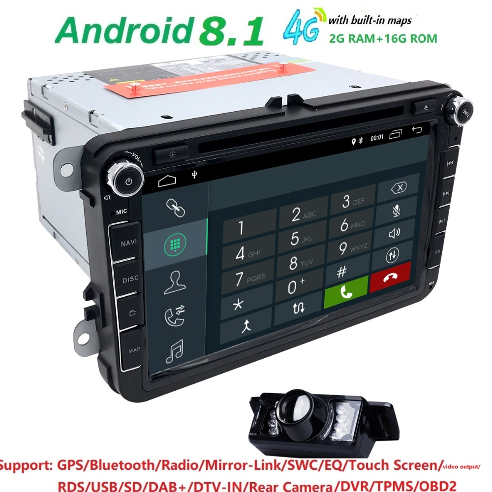2Din Android 8 1 font b Car b font Stereo font b Radio b font 8