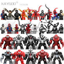 Один Marvel анти яд бойня Дэдпул Эдвард Брок Халк легойно Фигурки Модели Строительные блоки игрушки для детей