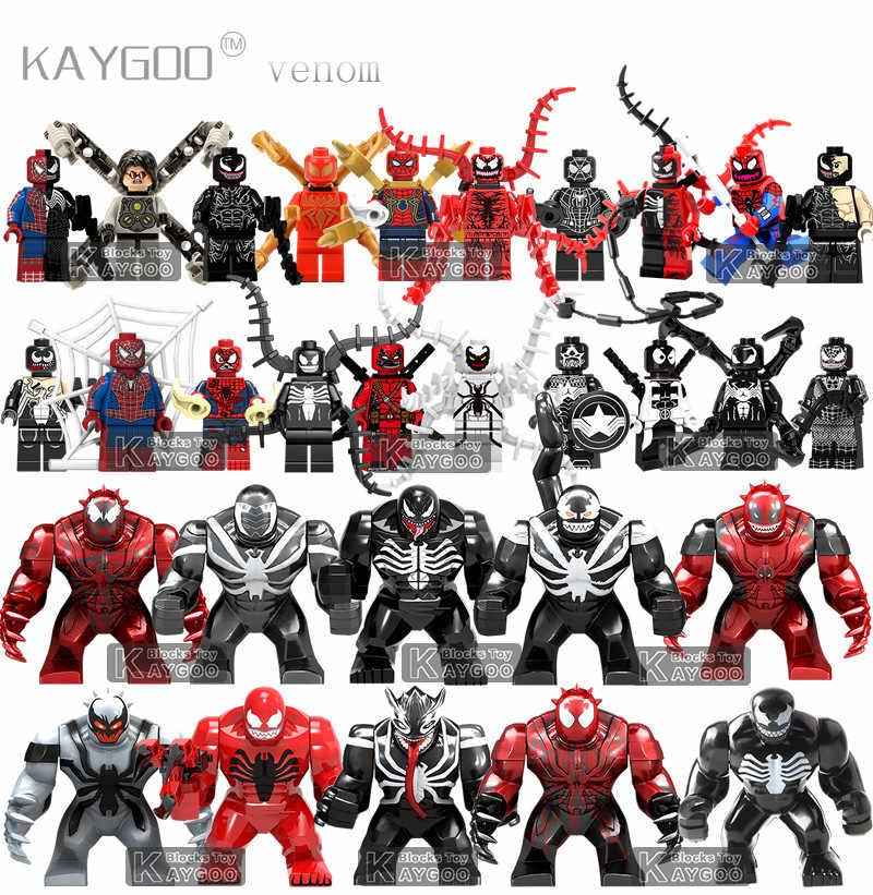 Одиночный Marvel анти Веном Carnage Дэдпул Эдварда Брока Халк Legoingly Фигурка Модели Строительные блоки игрушки для детей