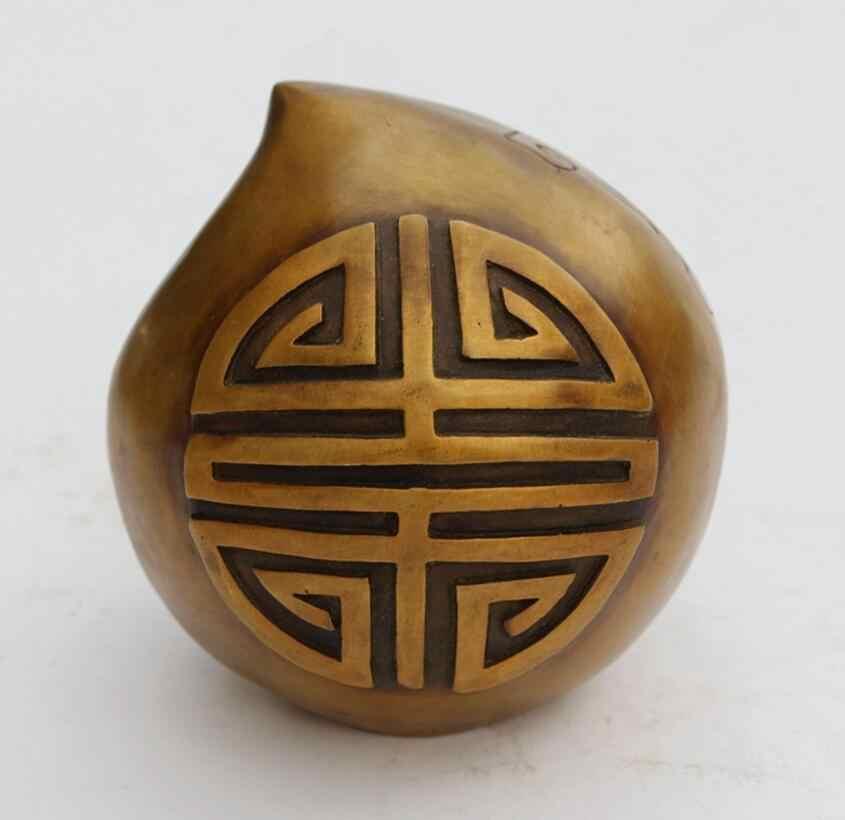 شعار SUIRONG---1106 البرونزية ثمانية العمر عيد الخوخ الخوخ شكل mantou عملية النحاس تأثيث المنزل فنغ شوي j