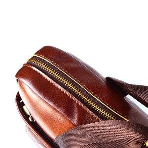 Image 5 - EUMOAN cuir véritable cuir véritable pochette dordinateur sacs à main peau de vache hommes sac à bandoulière hommes voyage marron mallette en cuir
