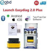 2016 новый оригинальный Launch x431 EasyDiag 2.0 Плюс OBDII Code Reader для iOS и Android 2 В 1 с 2 свободного программного обеспечения диагностический инструмент