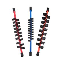 купить 3pcs/set Universal Industrial Plastic Double Sided Sleeve Socket Rail Holder Organizer 1/4 3/8 1/2 дешево