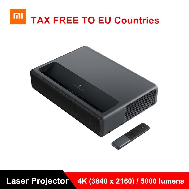 Xiaomi Mijia 4K 1500ANSI Projetor Laser Projeção TV Full HD Home Theater Android 6.0 5000Lumens 2G RAM 16G 3D Projetor