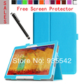 Ultra Thin Folio Slim PU Leather Stand Case Book Cover for Samsung Galaxy Note 10.1 2014 Edition Tablet P600 / P601/ P605 (BL)