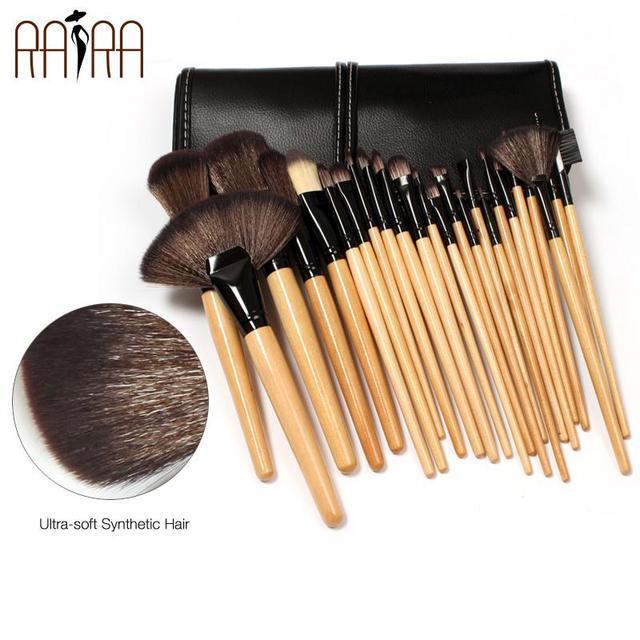 RARA 24 unids/set Pinceles Maquillaje Profesional Soft Compone el Cepillo Kit de Herramientas de Alta Calidad Pinceles de Maquillaje Desnudo Maquillaje