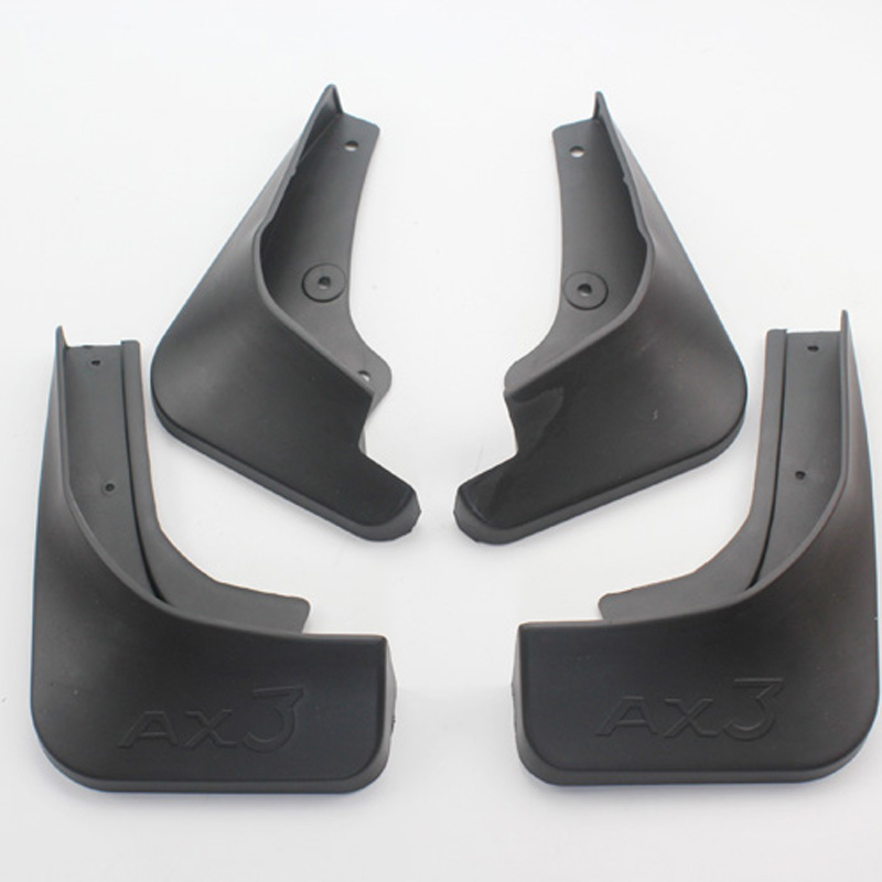 Free Shipping High Quality ABS Plastics Automobile Fender Mudguards Mud Flaps For Dongfeng Aeolus AX3