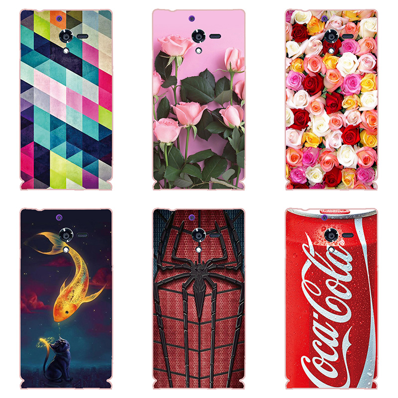 fashion style phone case shell For Sony Xperia ZL C65 C6502 C6503 L35H Hard plastic Phone Case colorful painting  skin shell