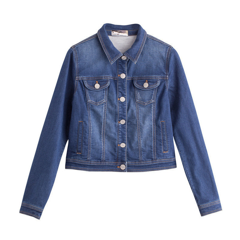 INMAN Women 39 s Autumn multi pocket clothes Cropped Denim Coat in Jackets from Women 39 s Clothing