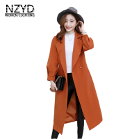 2018 Spring Women New Trench Fashion Lapel Collar Solid Color Mid Long Female Outerwear Autumn Loose