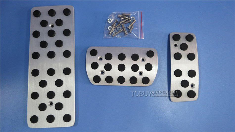 TTCR II Car Accessories For Subaru Forester 2009 2016 Aluminium Antiskid Gas Accelerator Brake Footrest Pedal Plate Stickers Pad