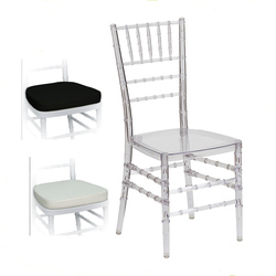 Cadeira de chiavari do banquete tiffany da resina clara