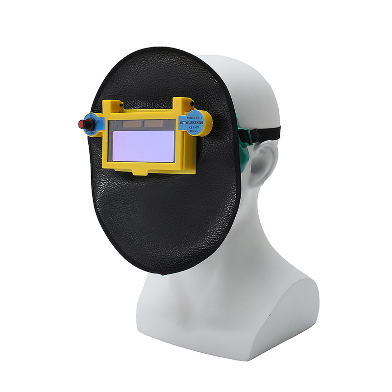 Solar Auto Darking Shading Welder Eyes Mask Eyes Goggles Helmet Welding Safety Protection din7 din12 shading area solar auto darkening welding helmet protection face mask welder cap for zx7 tig mig welding machine