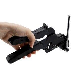 Image 2 - Abrazadera de cables de acero inoxidable, Tensor ajustable automático, herramienta de corte de apriete, 12mm de ancho, 0,3mm de grosor