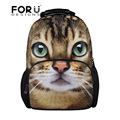 FORUDESIGNS 3D Zoo Animals School Bags for Girls Children Women Backpack Smiley Schoolbag Cute Pet Cat Dog Bookbag Mochilas