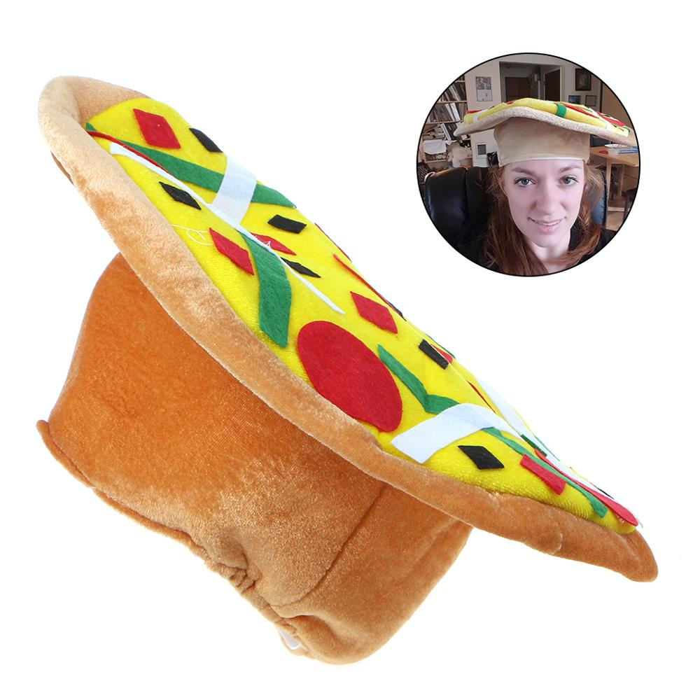 New Novelty Funny Pizza Hat Crazy Hat Party Costumes Joke Photo Props Kids Toy