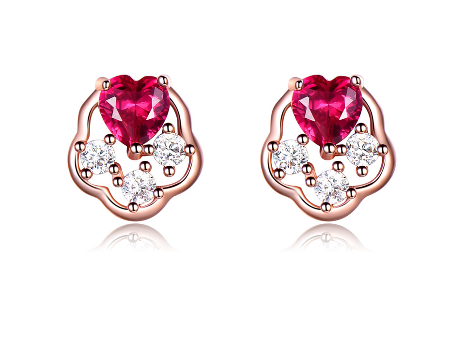 UMCHO-Ruby-925-sterling-silver-stud-earrings-for-women-EUJ076R-3-PC_02