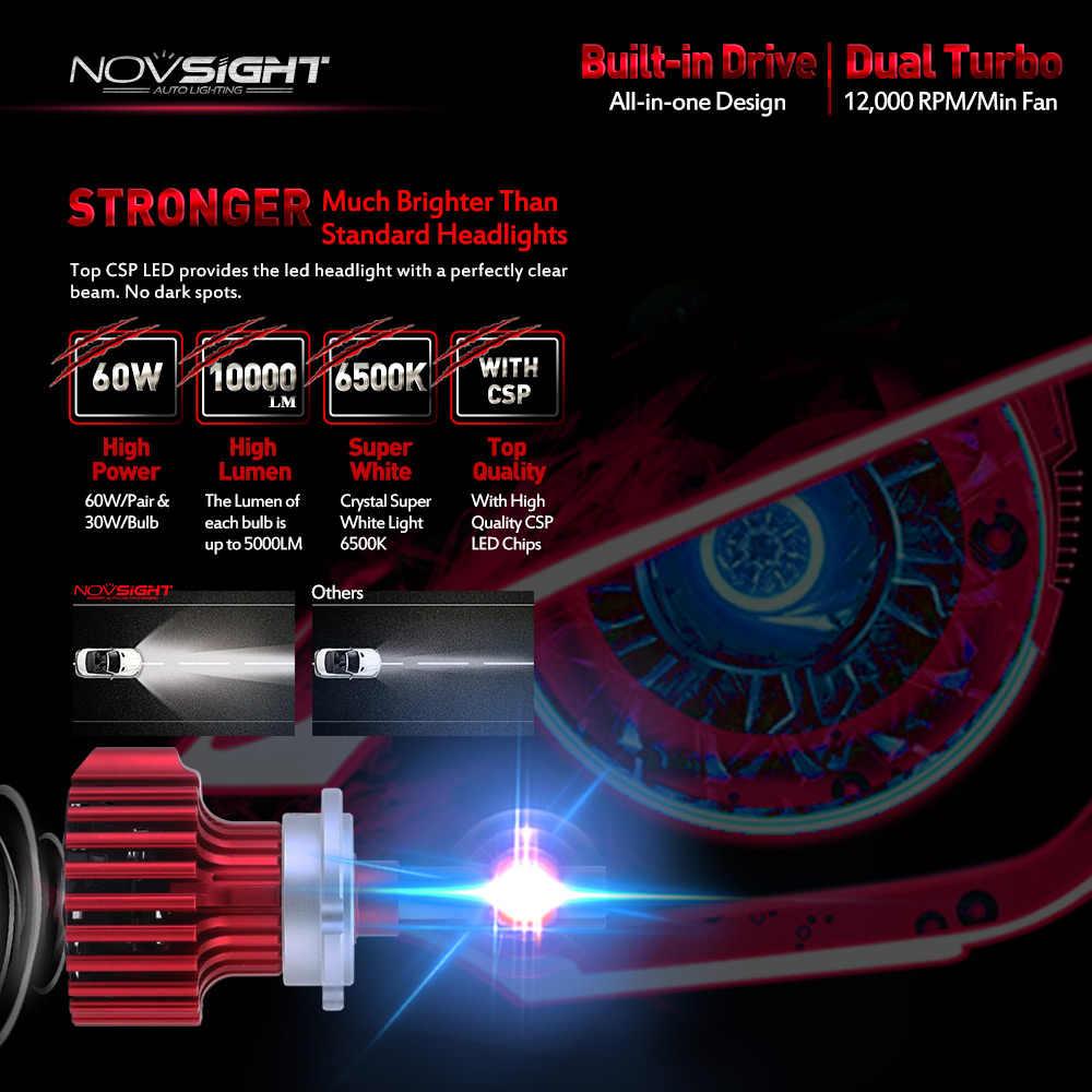 NOVSIGHT D1 D2 D3 D4 S/R Xe DẪN Đèn Pha 60 W 10000LM/bộ Sương Mù Ánh Sáng Bóng Đèn Trắng plug-N-Play Lái Xe Sương Mù Đèn