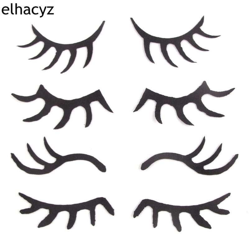 20pcs  Lot 55mm Black Felt Sleepy Eyes Eyelash For Girls