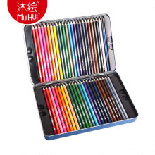 Ayron 34/48/72 color Iron box Watercolor pencil Non-toxic Lead-free gorjuss Drawing Sketch Art pens School office supplies(China)