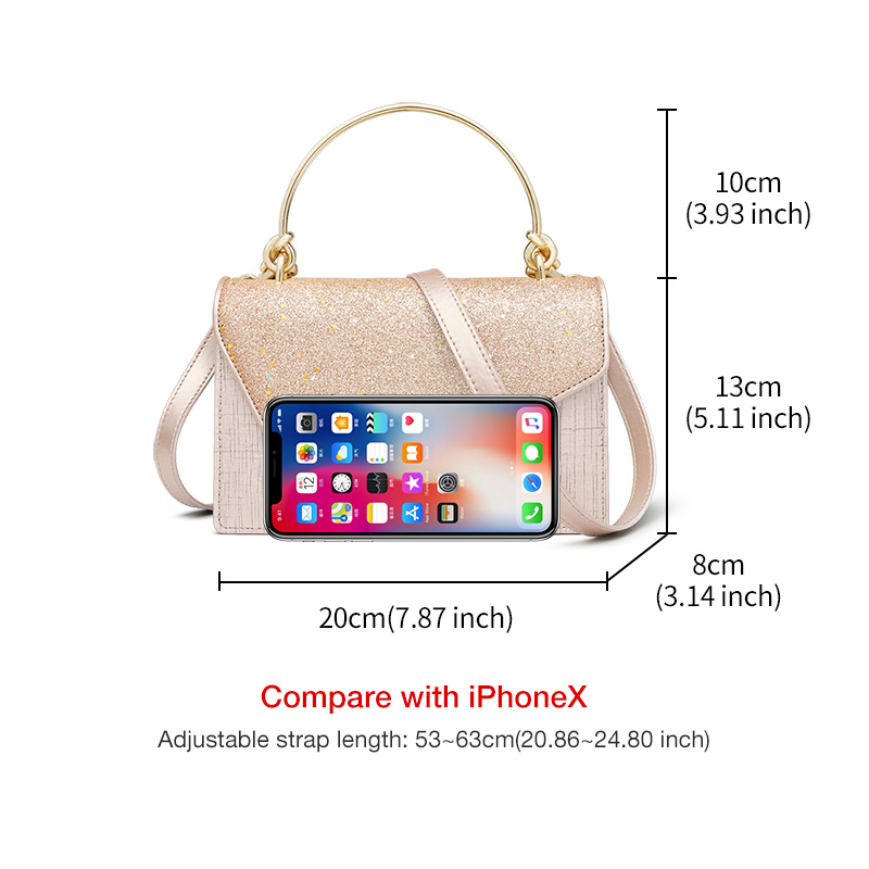 FOXER Flower Girl's Party Chic Shoulder Bags Women Dazzling Shine Evening Bags Lady Qualities Flap bags Female Messenger Bag 3