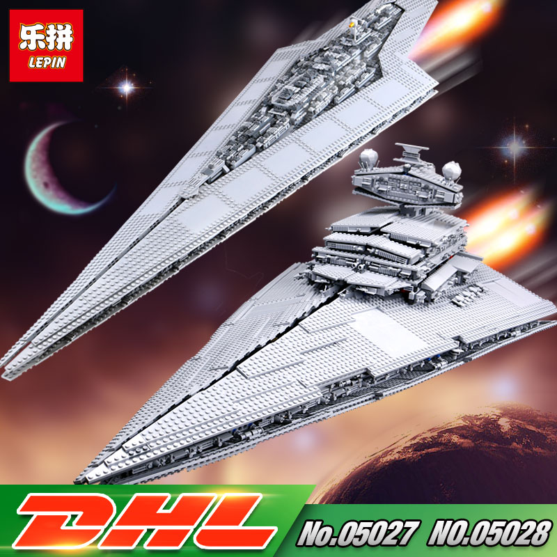 In stock DHL LEPIN 05027 05028 Star Series War The 10030 10221 Star Destroyer Set  Model Building Blocks Bricks Kids Gifts Toys rollercoasters the war of the worlds