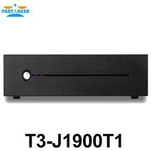 Celeron J1900 Mini PC Quad Core Fanless Desktop Computer with VGA HDMI Dual LAN 2 LAN Port 2 Com Support Window 10/Win 7/Linux