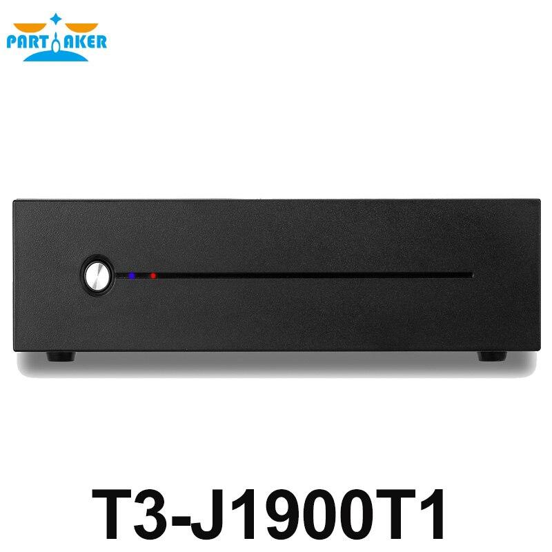 Celeron J1900 Mini PC Quad Core Fanless Mini PC With VGA HDMI Dual LAN 2 LAN Port 2 COM Support Window 10/Win 7/Linux/Ubuntu