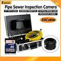 """Бесплатная доставка! 50 М 7 """"Дисплей Трубы Сливного Трубопровода Inspection Sewer Video Камеры Змея Инспекции"""