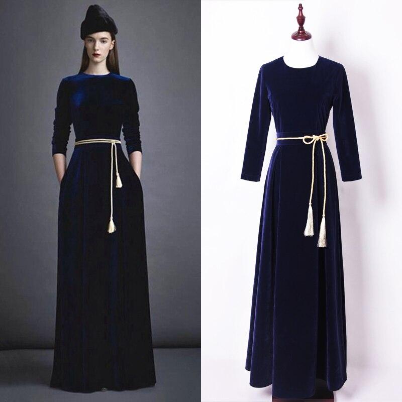 XS 4XL High Quality 2016 Winter New Warm Thick High Grade Velvet Fabric Slim Long Sleeved