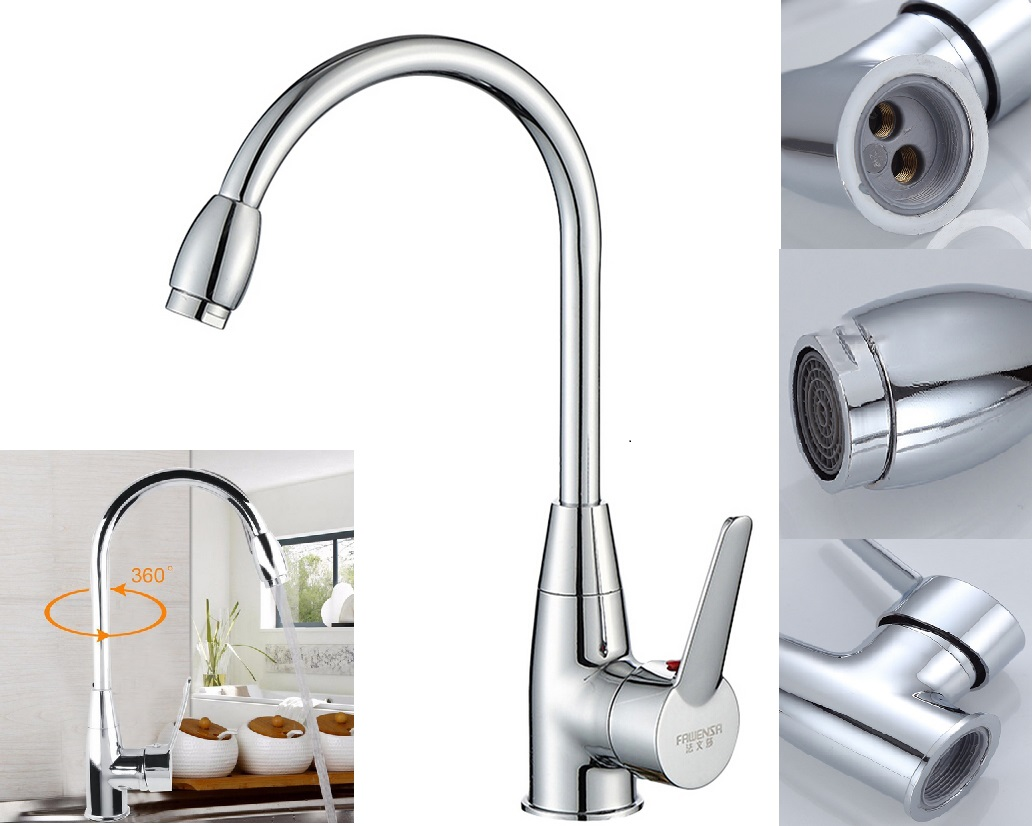 Kitchen Faucet Rotatable Hot And Cold Water Kitchen Sink Faucet Mixer Sink Faucet Kitchen Accessories